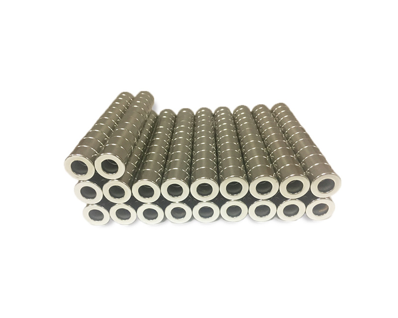 厂家直销 钕铁硼圆环强磁 15*5-14 订做各种规格磁铁片 圆环磁铁