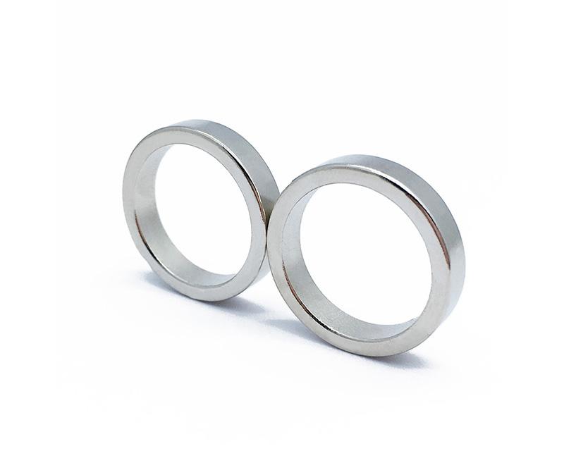 中国供应商N52镀镍永久钕铁硼磁环